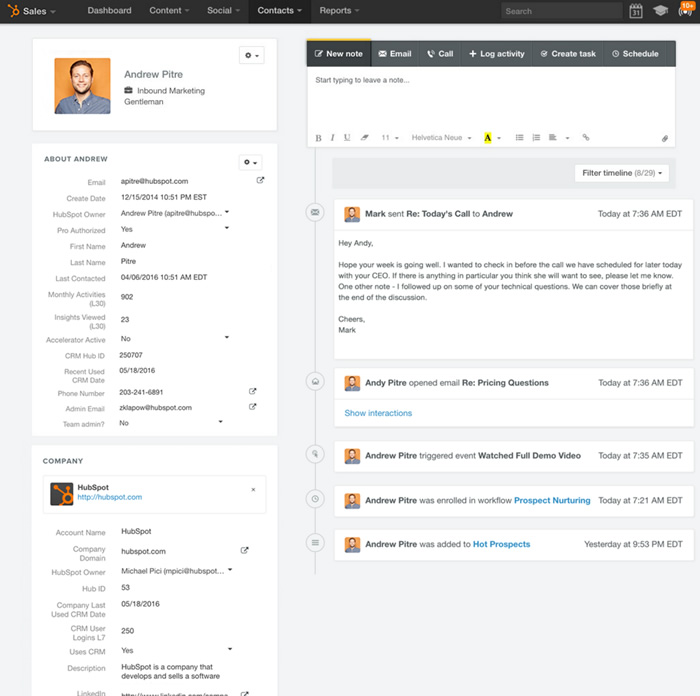 Image result for hubspot dashboard client contact