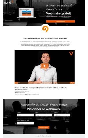 Page Webinaire avec Vidéo